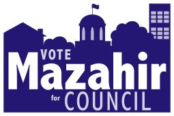 Mazahir Salih for City Council yard sign