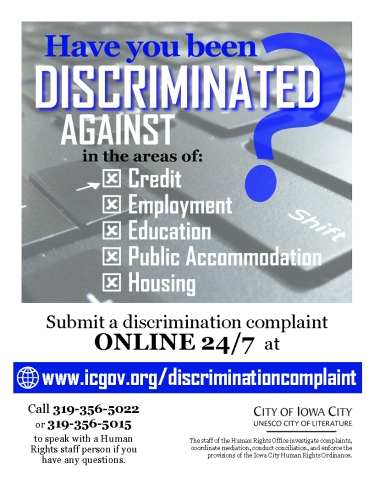Discrimination Complaint flier