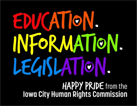 Human Rights Commission ad for IC Pride